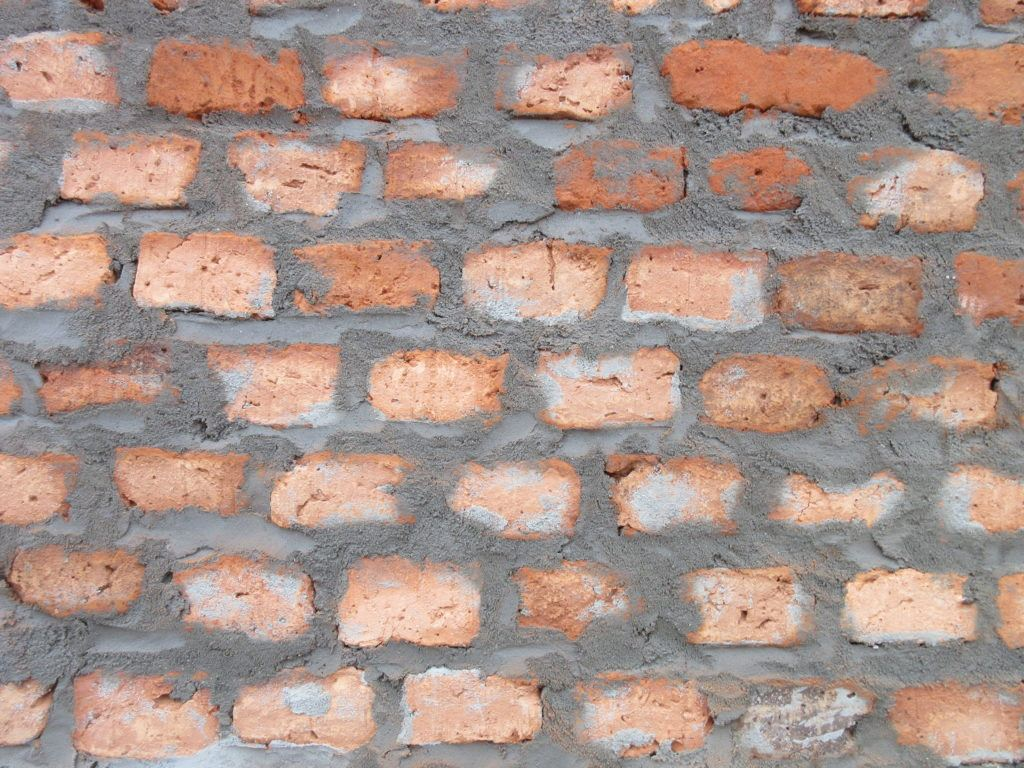 Brickwork as noted by Martin Rubino during project on St. Theresa Hospital in Nzara, South Sudan.
