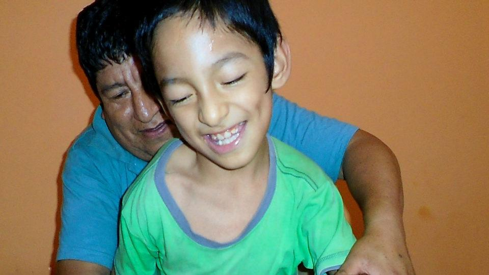 Leonel with a big smile - CMMB Peru Angel