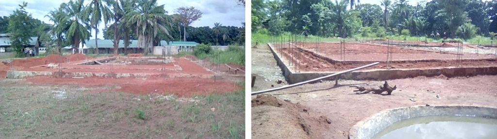 Progress of the maternity ward at St. Theresa Hospital from May 20-27.