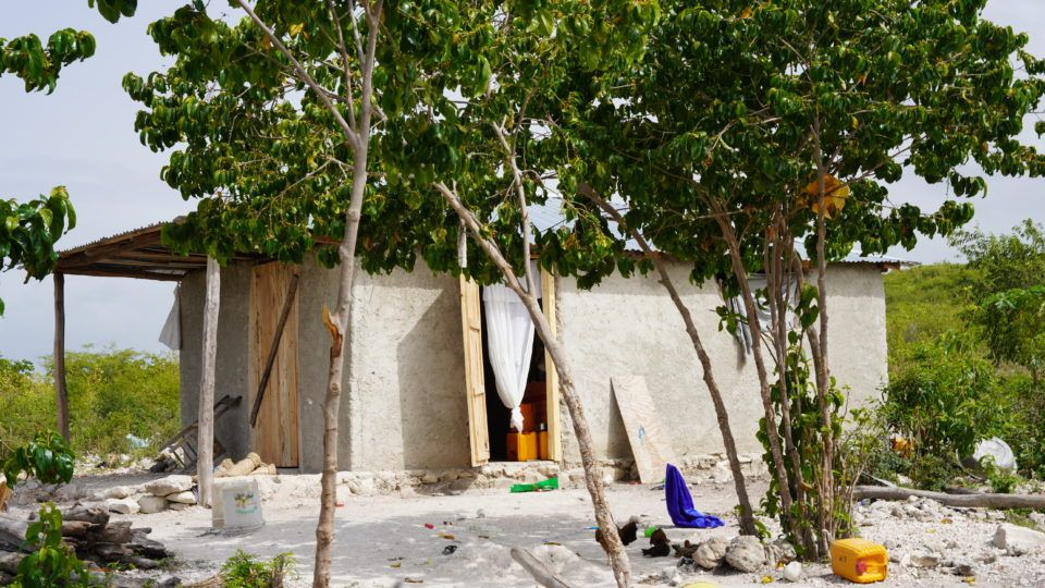 Roseberline's home in Haiti.