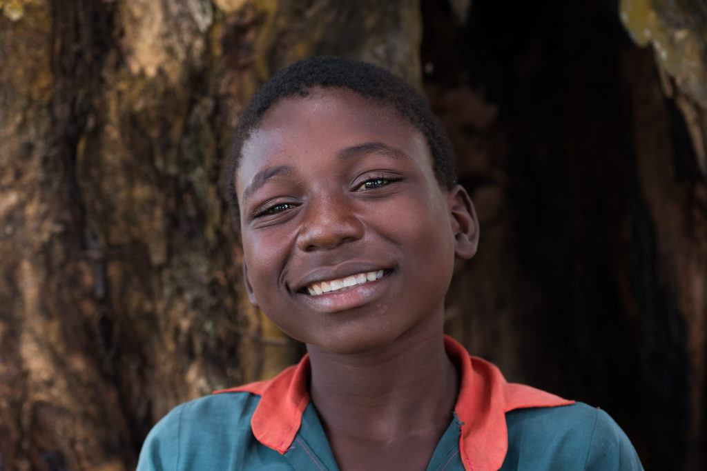 The face of one boy living in South Sudan