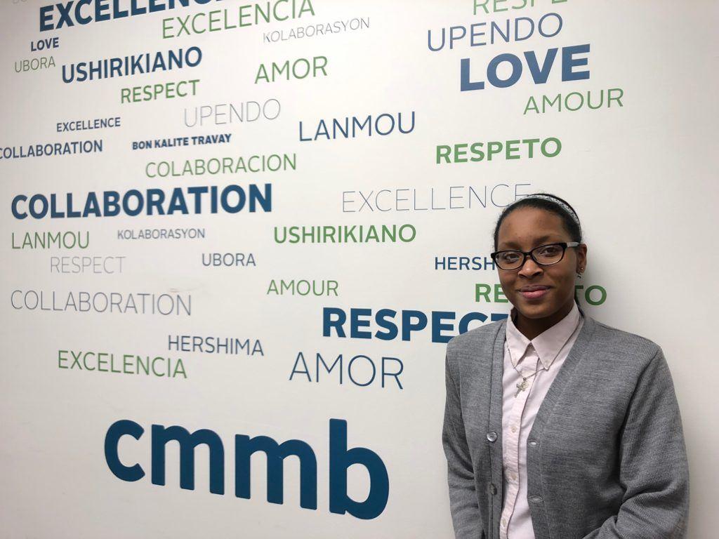 Cristo Rey intern at CMMB, Arianna