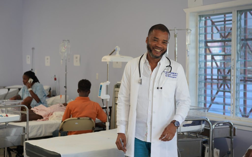 Dr. Laguerre is a doctor at the BJSH in Haiti