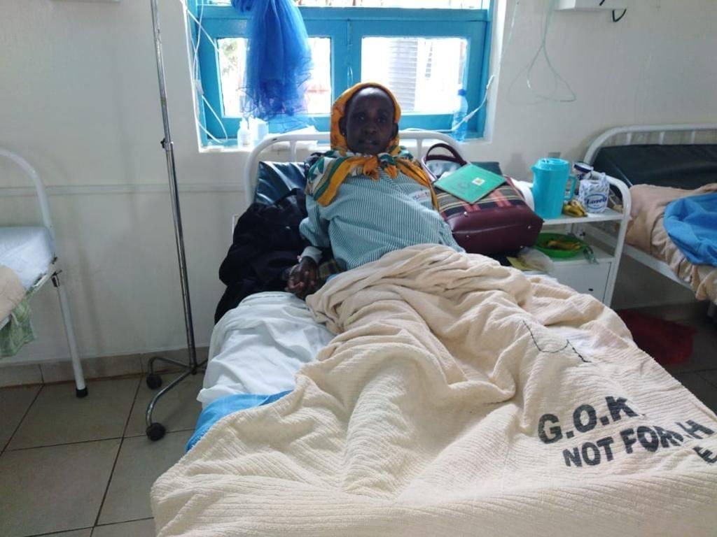 Elizabeth Kanuu resting at the hospital in Mutomo, Kenya