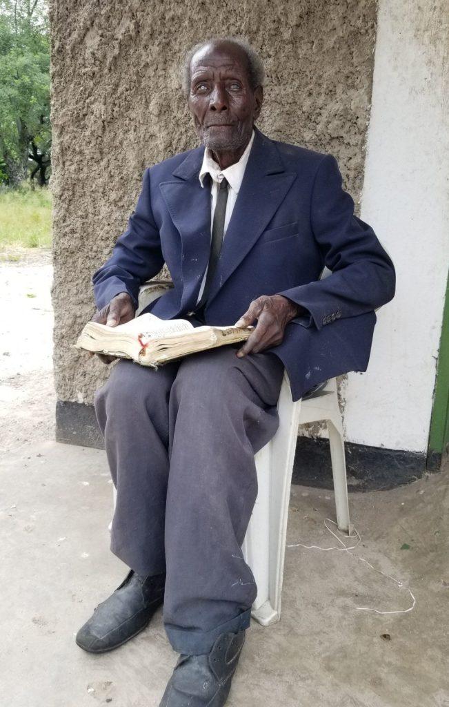 blind man in Mwandi