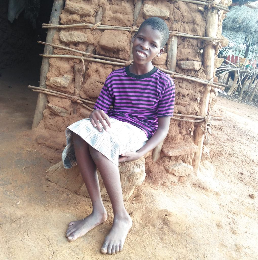 Alice Mutali Mary 14 years and disabed