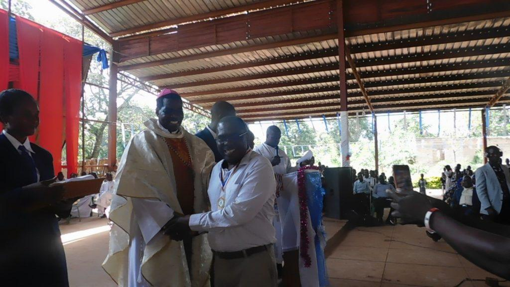 CMMB recieves excellency award from Bishop Eduardo Hiiboro Kussala