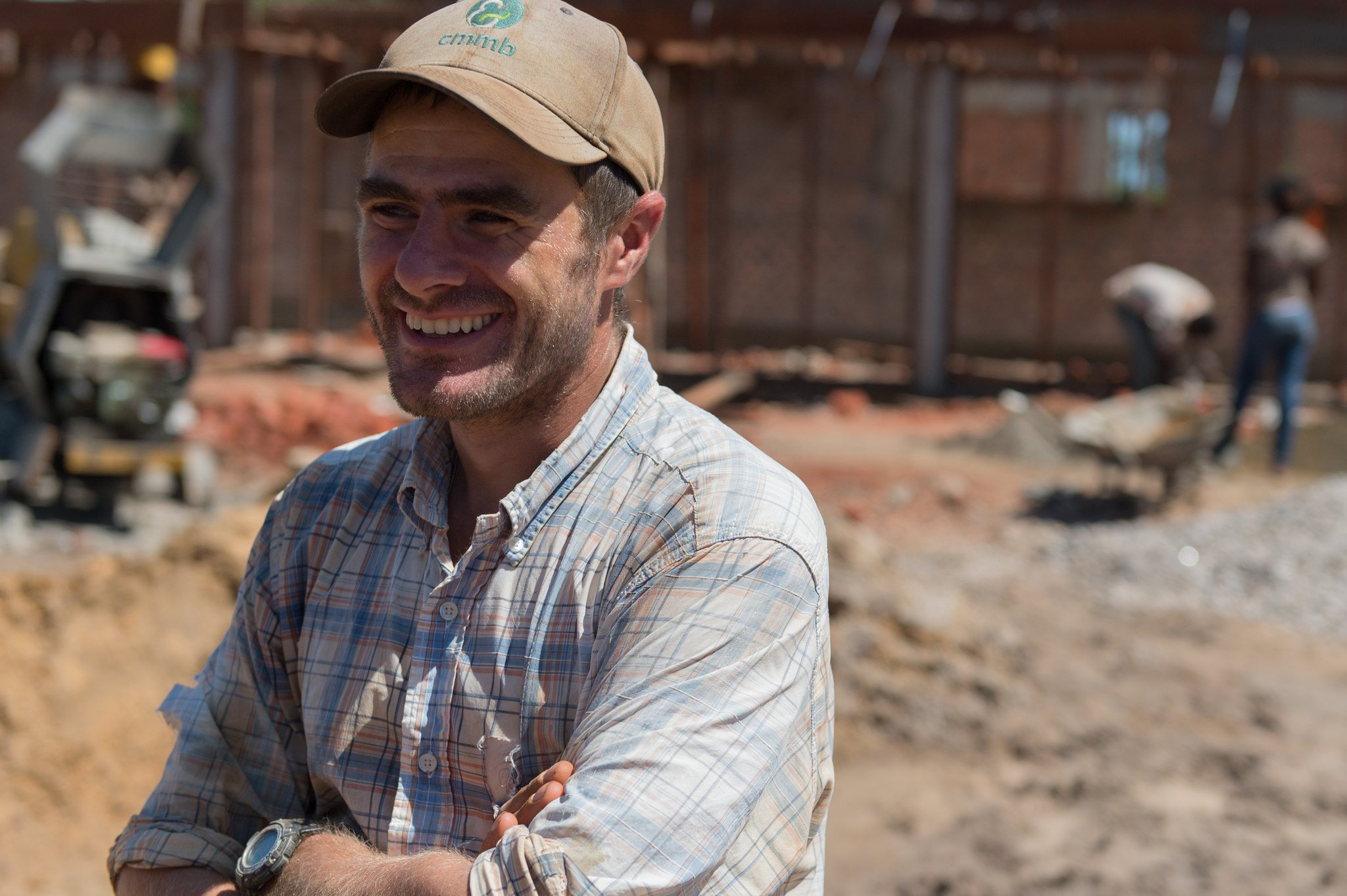 CMMB volunteer and engineer, Martin Rubino is the project manager for the Nzara construction