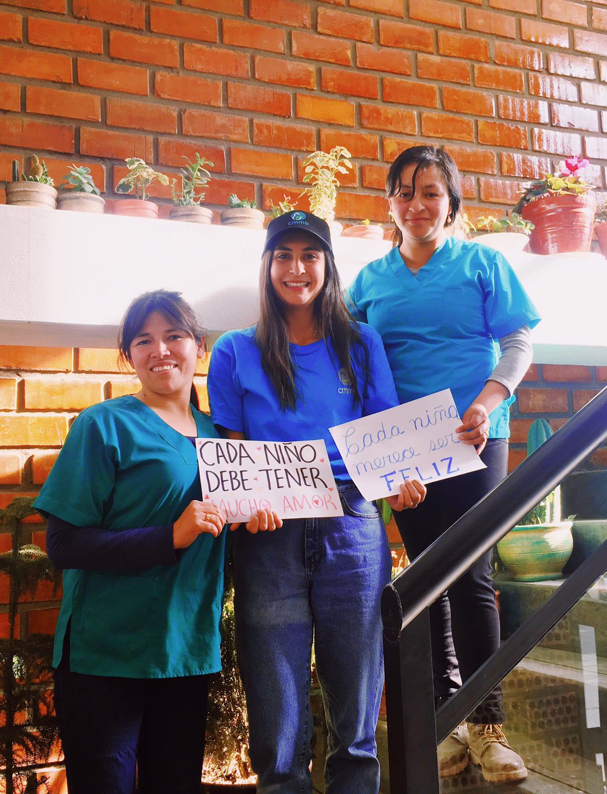 Team Blue from Peru Universal Children's Day