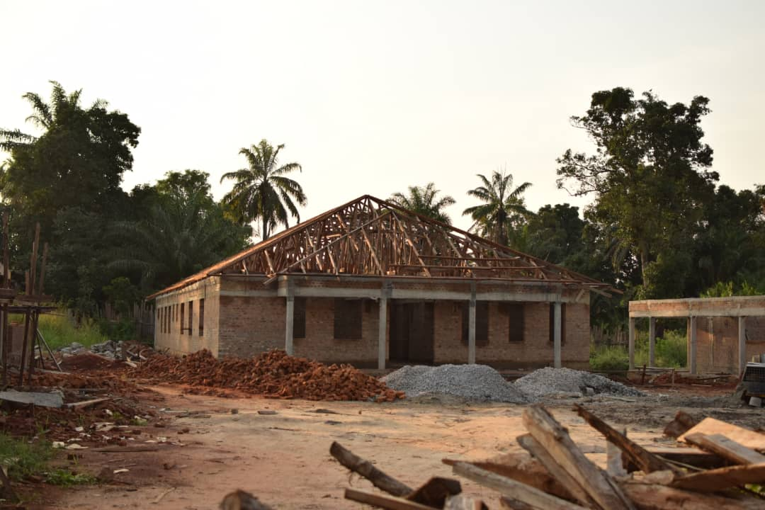 nearing the end of construction at one building in nzara
