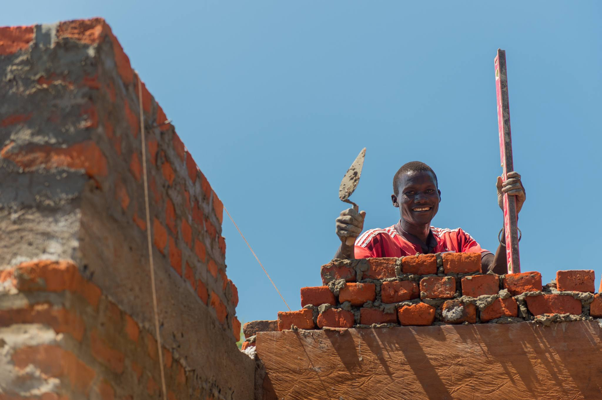 Hard work and many smiles have been put into construction at the site