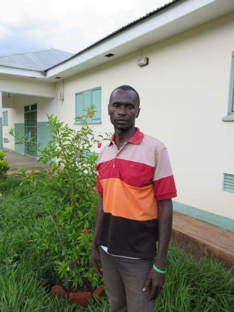 A photo of the man who asked Martin Rubino to take his photograph at St. Theresa Hospital in Nzara, South Sudan.