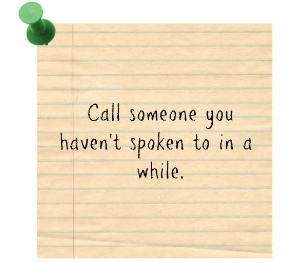 Call someone - NYE resolution
