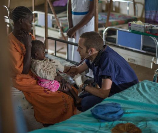 Caring for a mother and child in South Sudan