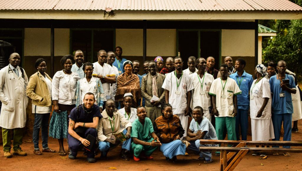 Dr. Matthew with the team at St. Theresa Hospital