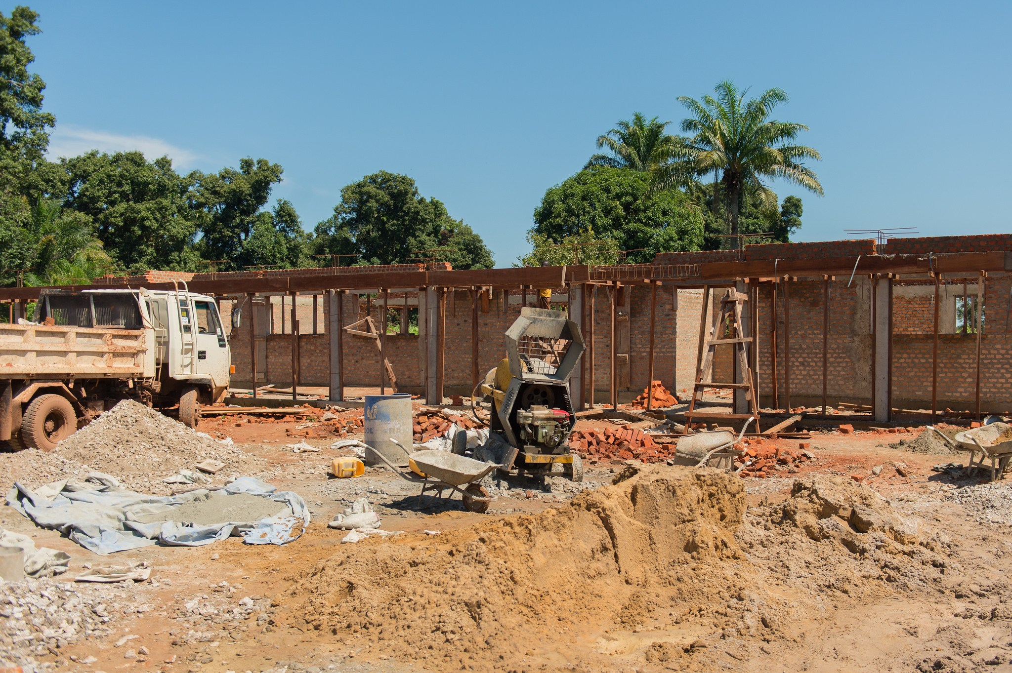 The construction of the new surgical unit is well underway at St. Theresa Hospital in South Sudan.