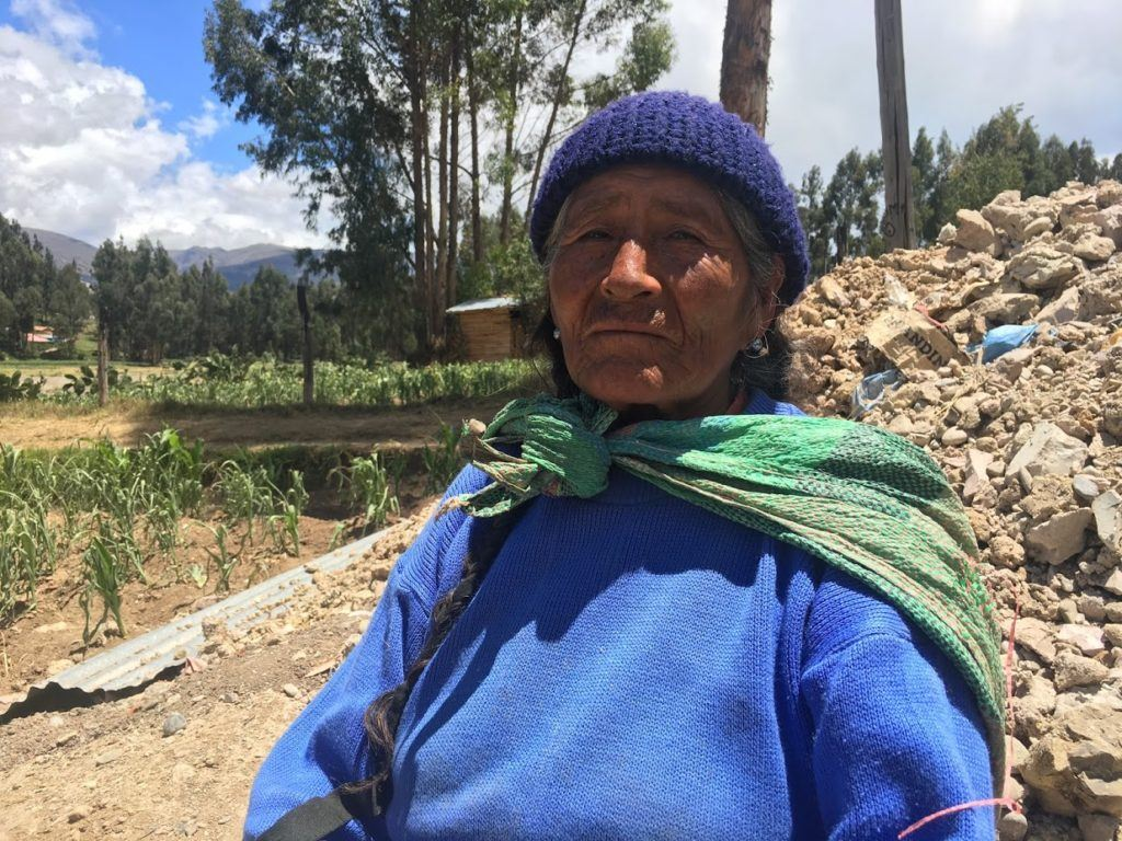 Astidia lives in Huancayo Peru and is one of the women whose families received a new water tank.