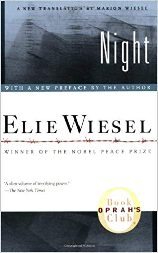 Night by Elie Wiesel, cover of book