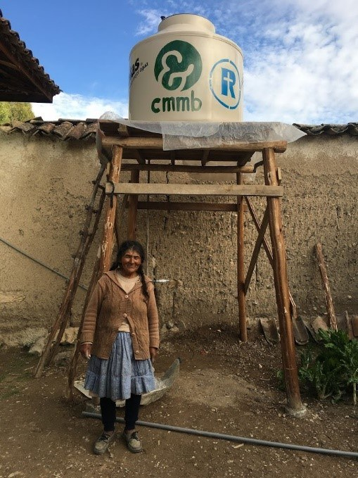 Water tank beneficiary, Juanita