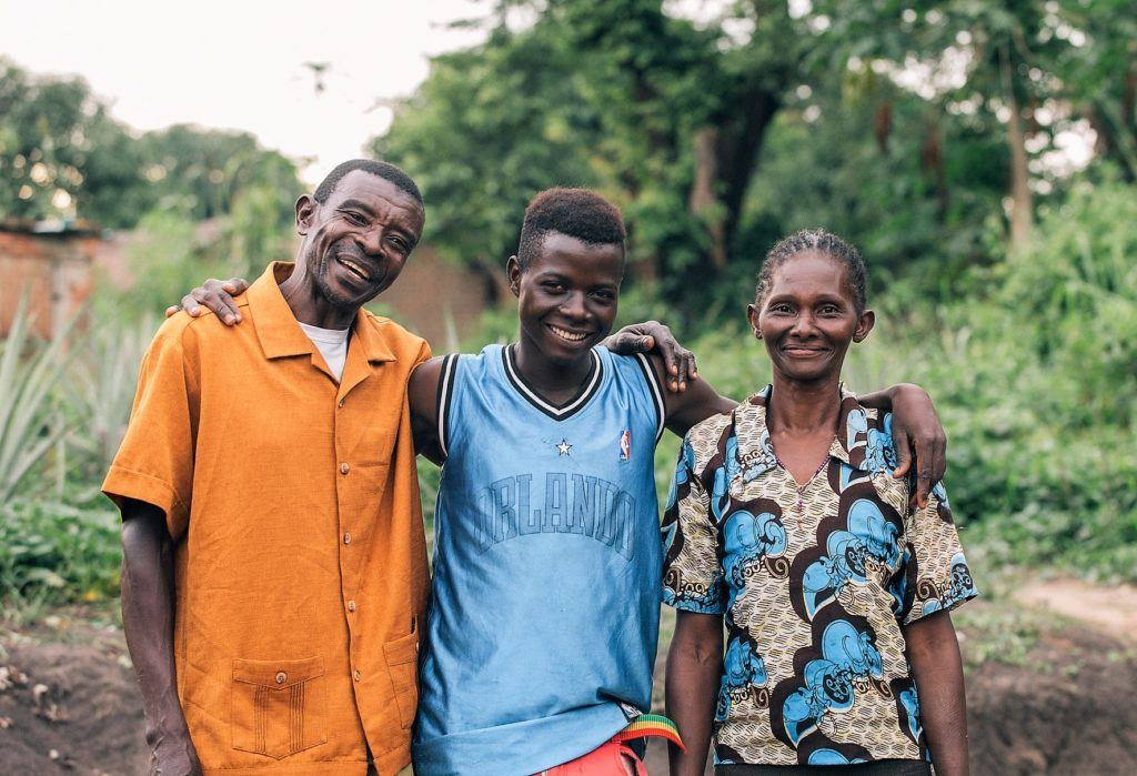 former child soldier with foster parents