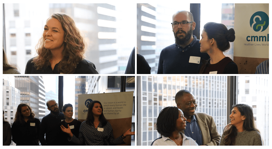 Collage from the Commitment Ceremony at the NYC headquarters