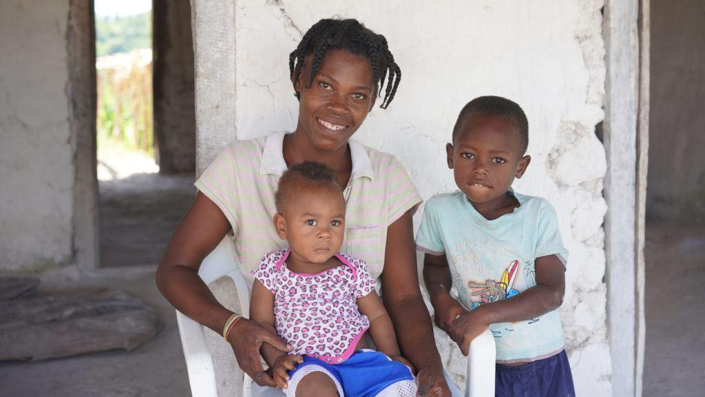 Family in Haiti