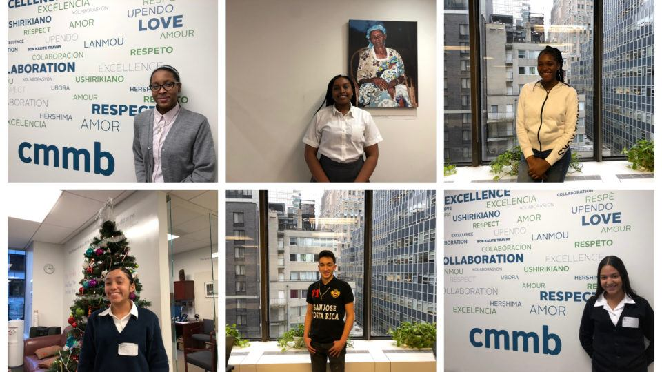 Collage featuring our 2018-2019 cohort of Cristo Rey interns!