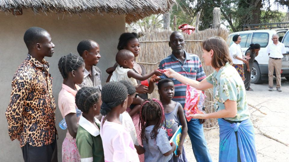 Dr. Helene on Mission trip with a group of community members