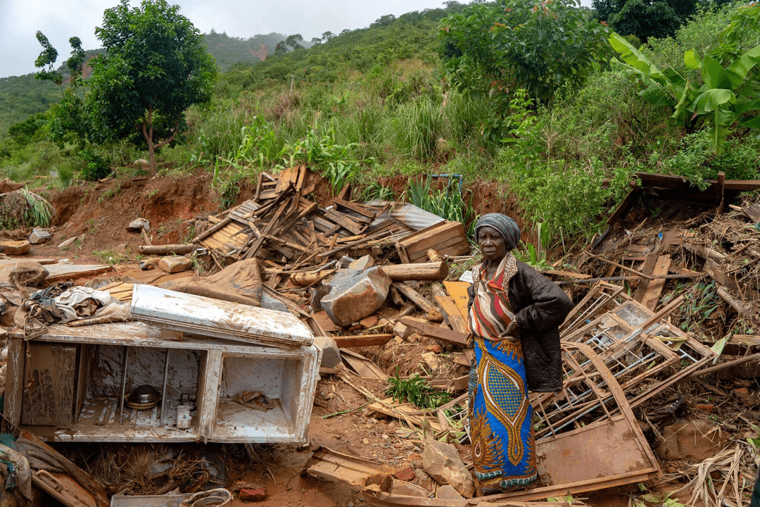 damage after cyclone in mozambique