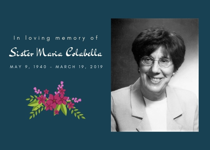 In loving memory of Sister Maria Colabella