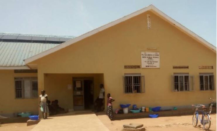 The front of the Yambio State Hospital in South Sudan. The hospital serves over 200,000 people