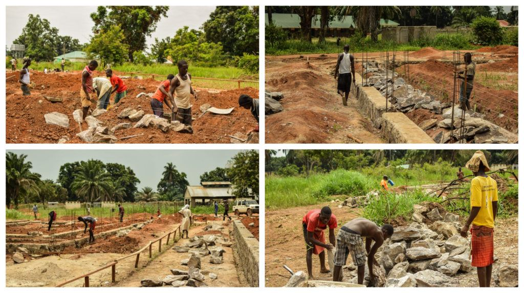 The foundation being set in Nzara, South Sudan
