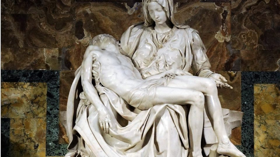 La Pieta - sculpture of Jesus on Mary's lap