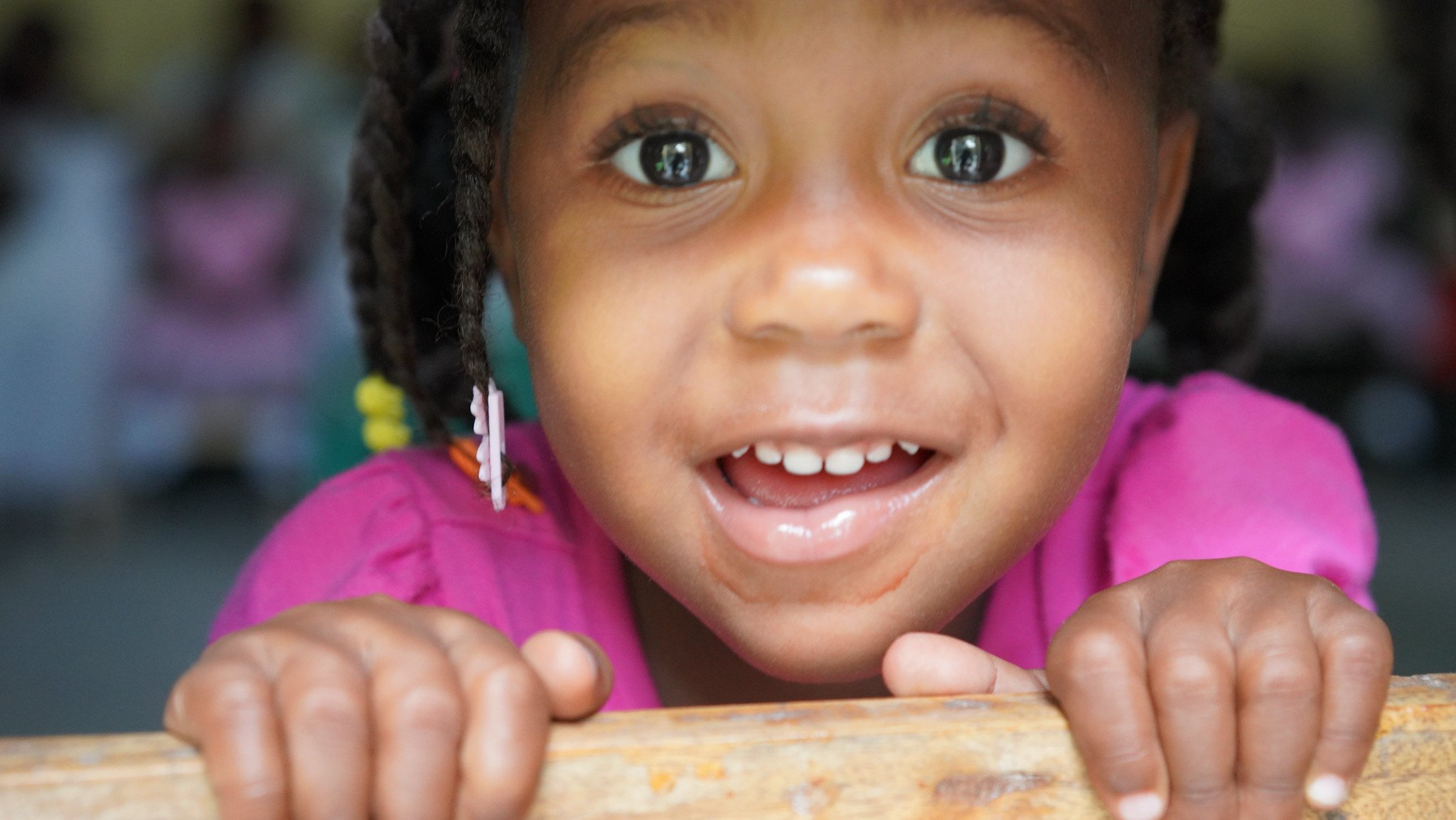 One of our angels, Estefika, in Haiti