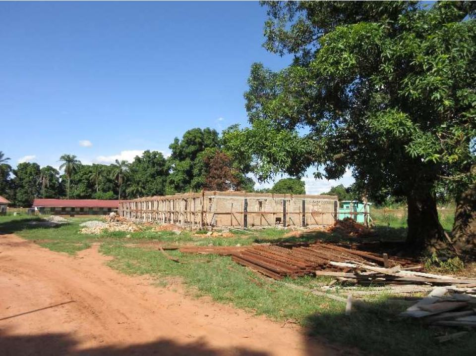 image of the blood bank in south sudan during construction