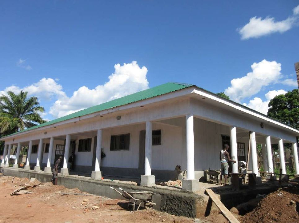 The maternity ward, painted and with a roof