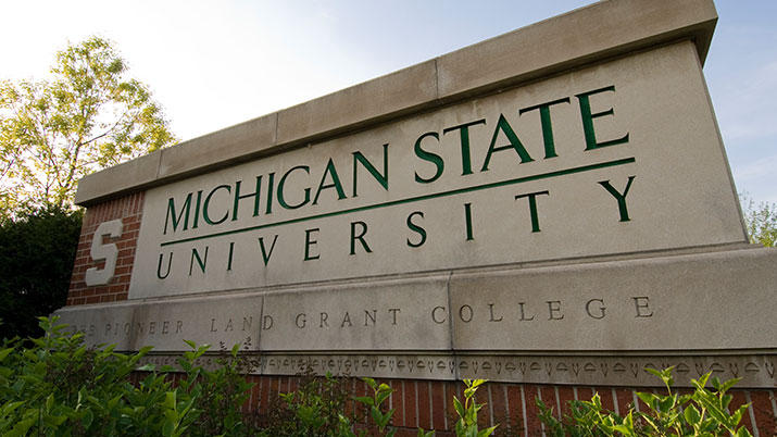 Image of the MSU sign