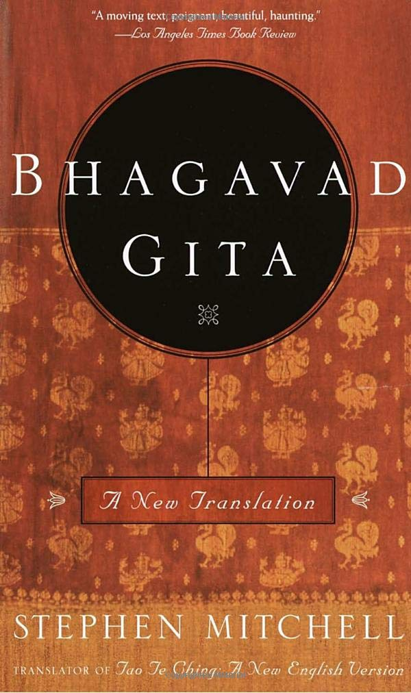 The book cover of Bhagavad Gita