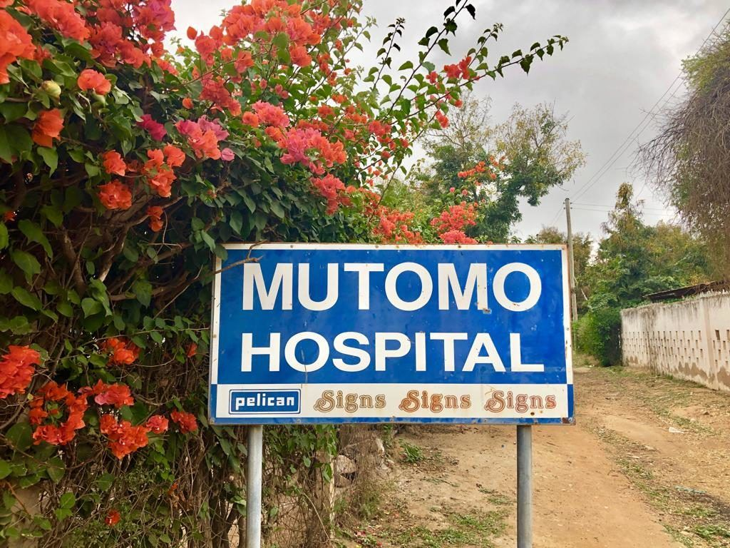 Photo of the Mutomo Mission Hospital sign taken by volunteer, Samantha Hodge