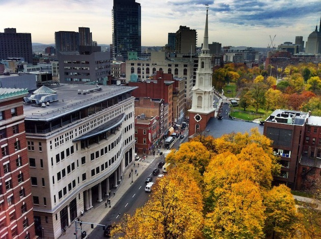 an image of the Suffolk University Law School campus