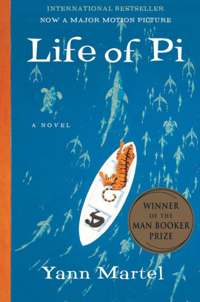 "A hardcover book image of ""The Life of Pi"""