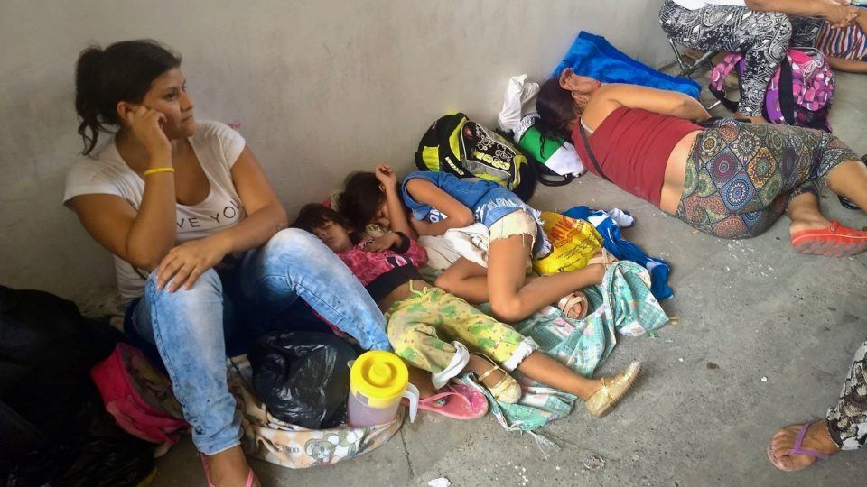Venezuelan refugees on the streets