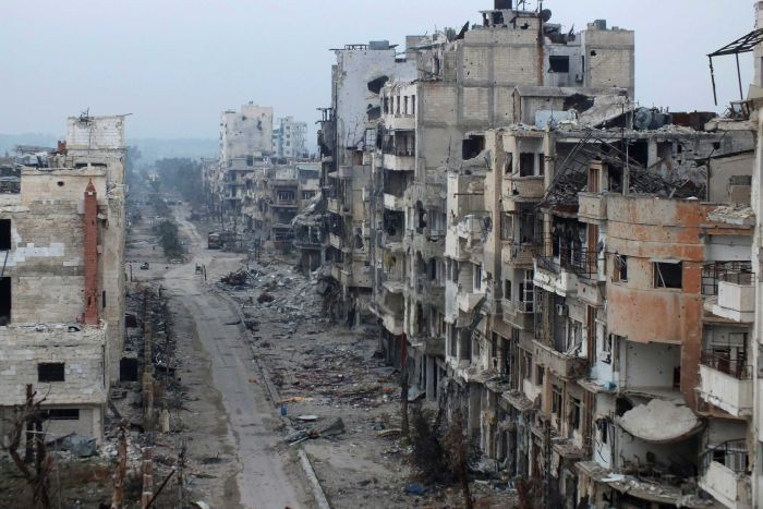 syrian city of homs in ruins