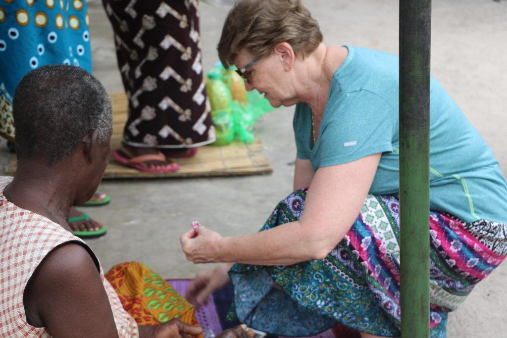 Beverly donates her time and resources to a community in Zambia