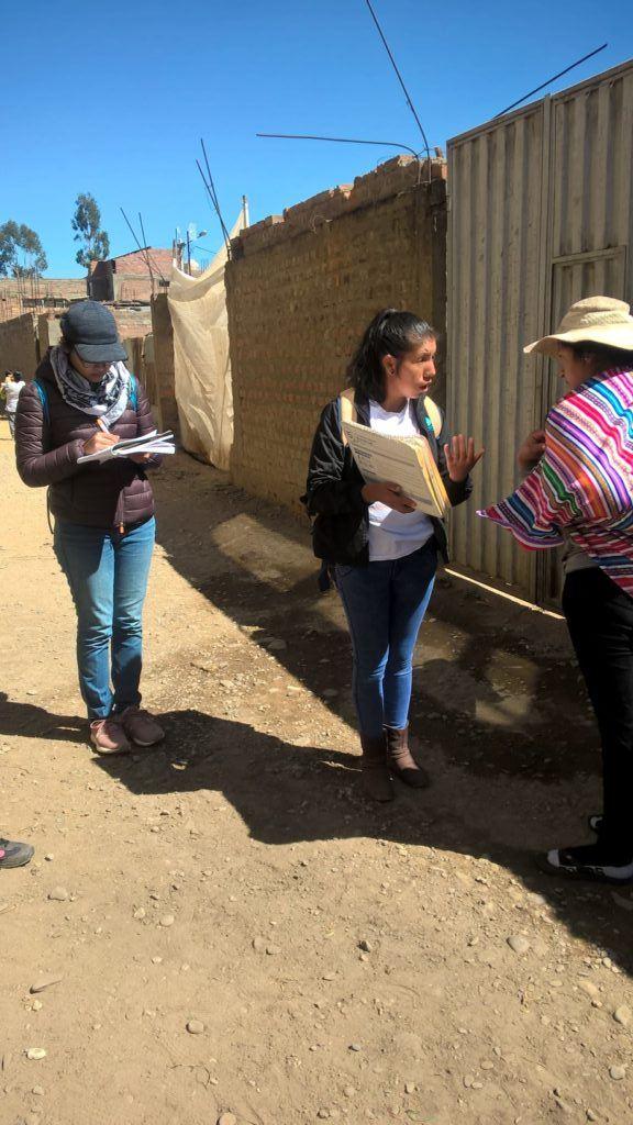 Observing a consejeria alongside Rosario M. a Community health Agent Leader