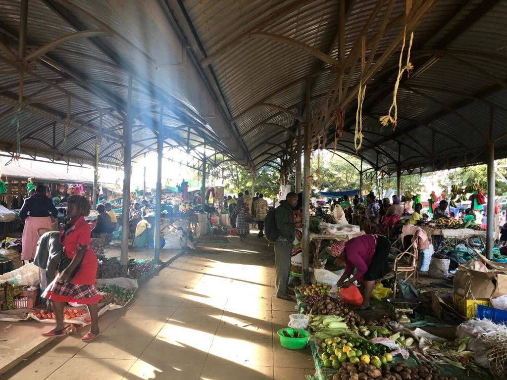 The busy market in Mutomo, Kenya