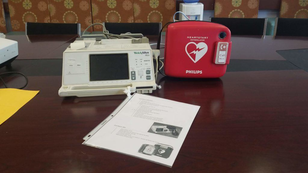 Image of a defibrillator at the BJSH