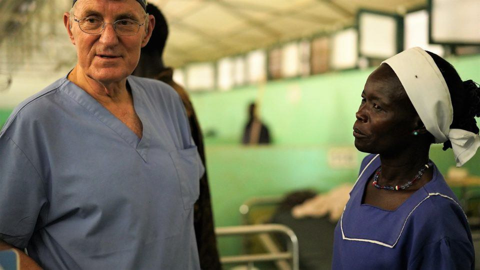 dr jim peck in sudan hospital