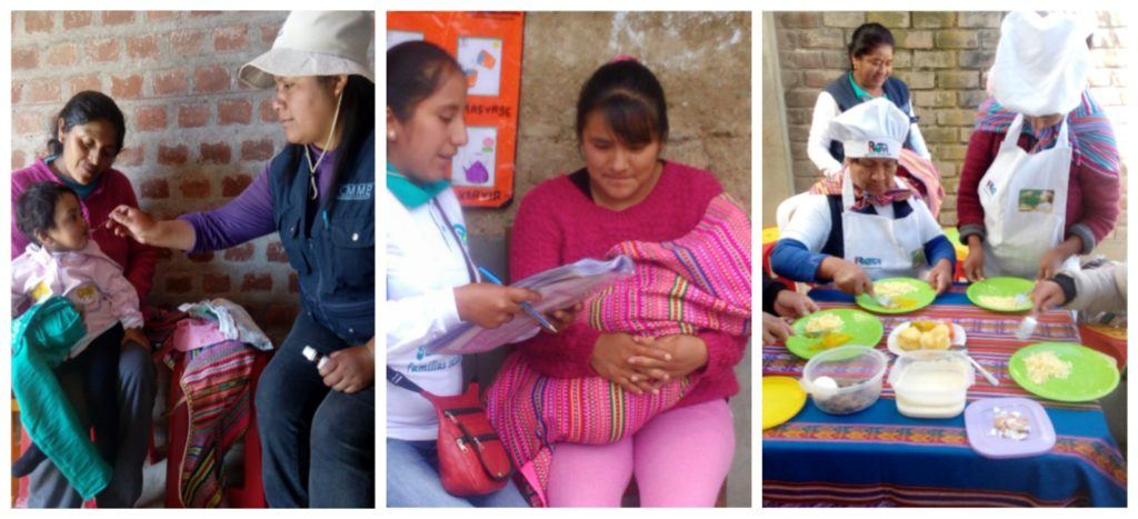 Collage featuring CHWs in Peru