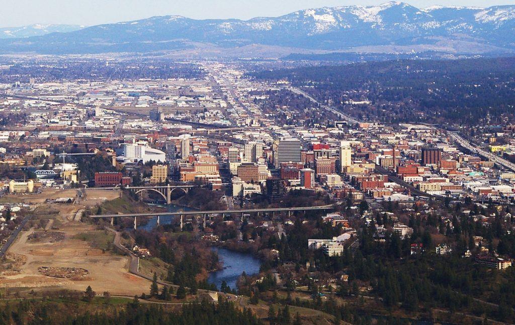 Downtown Spokane WA. Mandi calls Spokane home